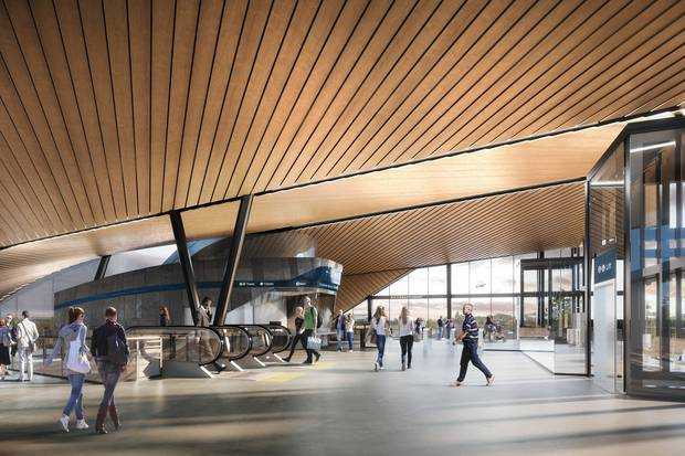 Artist's impression of a major upgrade to Puhinui Rail Station, with work planned to begin in October. Image / Supplied