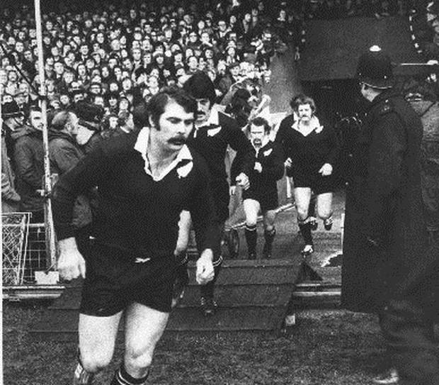 Keith Murdoch taking the field against Wales at Cardiff Arms park in 1972, where he scored New Zealand's only try. Photo / Supplied