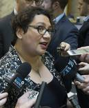 Green Party co-leader Metiria Turei is questioned by the media at Parliament. The next round of polling with be interesting for the party. Photo / Mark Mitchell