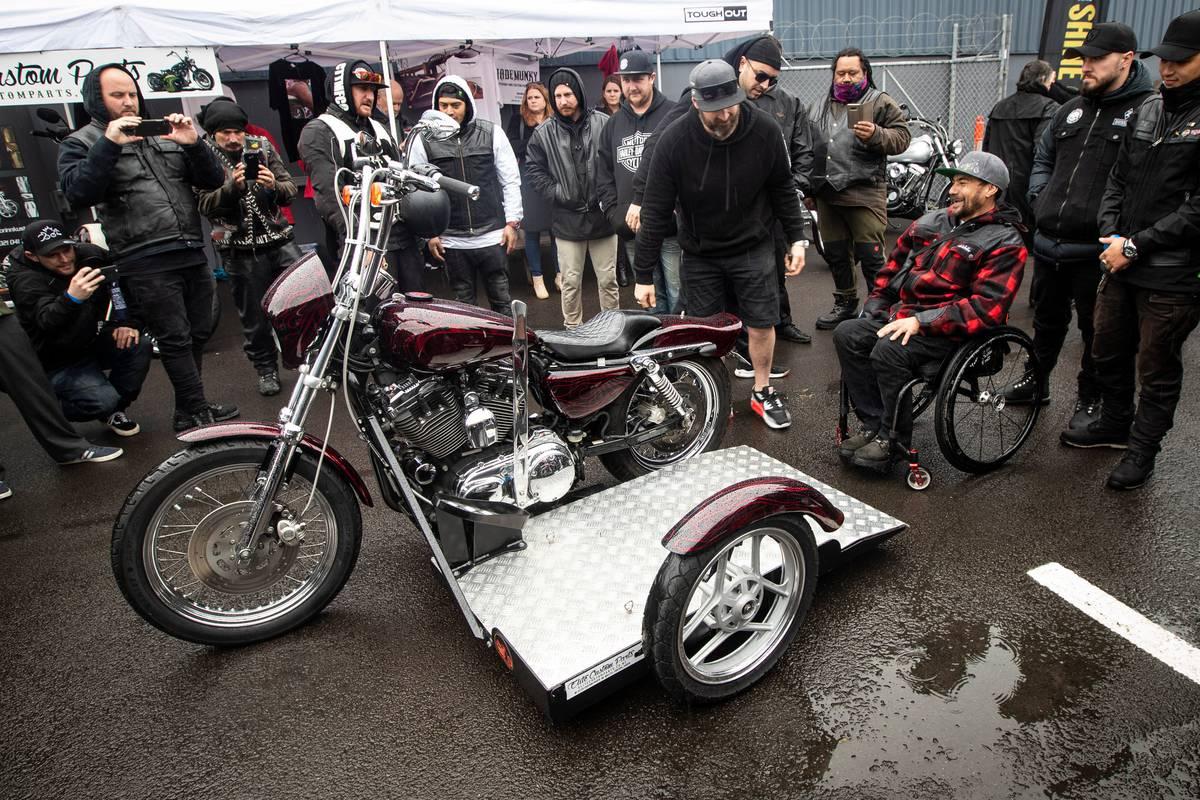 Paraplegic motorcyclist Steve Reid back on road again on a custom-made bike