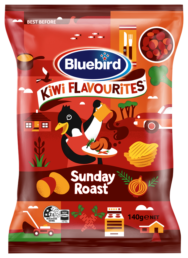 These chips bring back the flavours of a classic Sunday roast. Photo / Supplied