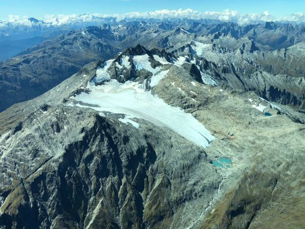 The Brewster glacier, located on the Main Divide near the South Island's Haast Pass, as seen last month. Photo / Drew Lorrey
