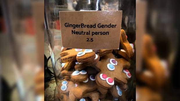 The New Lynn cafe's gingerbread person jar has created a splash. Photo / Supplied