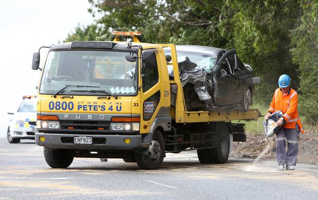 One of the vehicles involved in a serious crash on Smeaton's Hill that was captured on Dashcam. Photo/ file