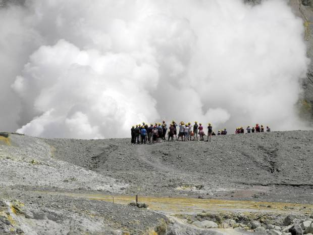 Thousands of tourists visit White Island each year. Photo / Alan Gibson