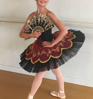 ec70205862 ... Tayla-Rose Frisby, wearing her tutu for the Don Quixote ballet, Kitri  variation