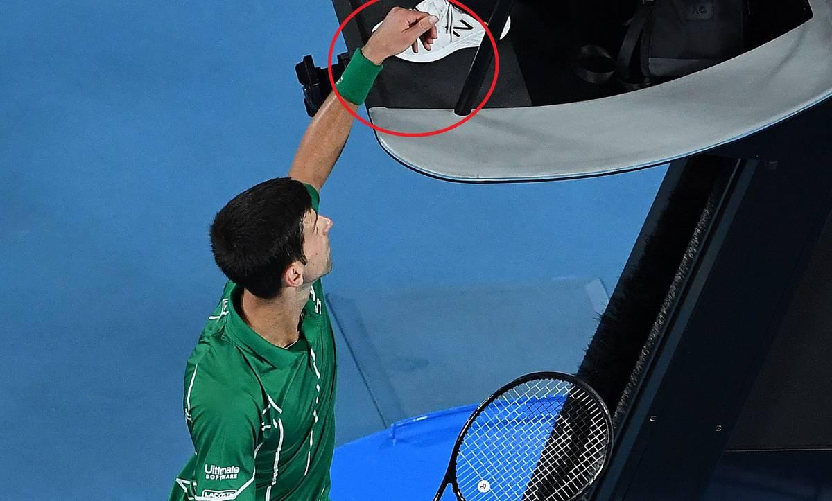 Tennis Novak Djokovic Risks Fine By Touching Chair Umpire Before Securing Australian Open Title Nz Herald