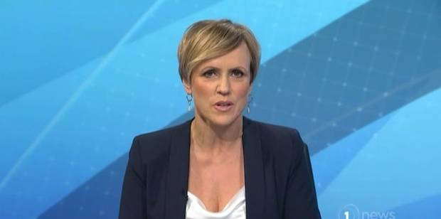 Hilary Barry fronting up on the news