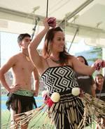 Nicole Douglas performs at the tournament pōwhiri. Photo / Annie Hawaikirangi