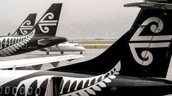 Air New Zealand tumbling by a third after coming off a trading halt. Photo / File