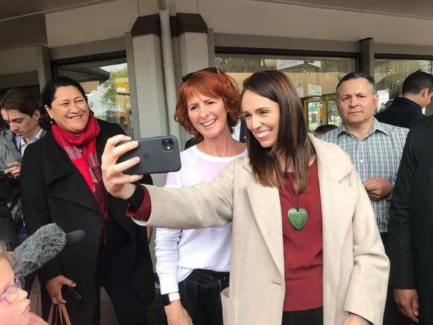 Jacinda Ardern on the campaign trail in Gisborne. Photo / Jason Walls