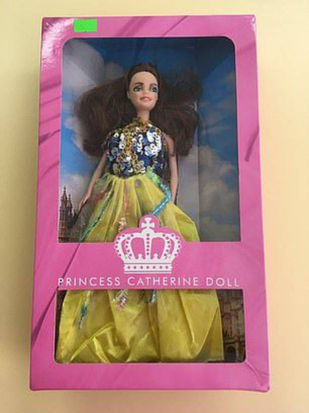 The fake Kate Middleton doll that was seized. Photo / Daily Mail
