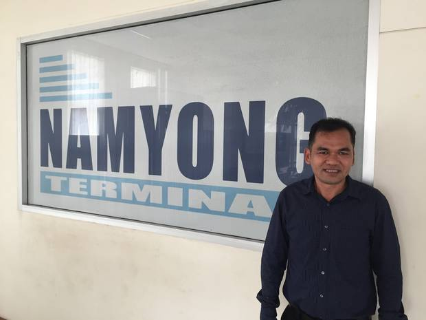 Namyong Terminal operation manager Weerapong Sripa. Photo / Aimee Shaw