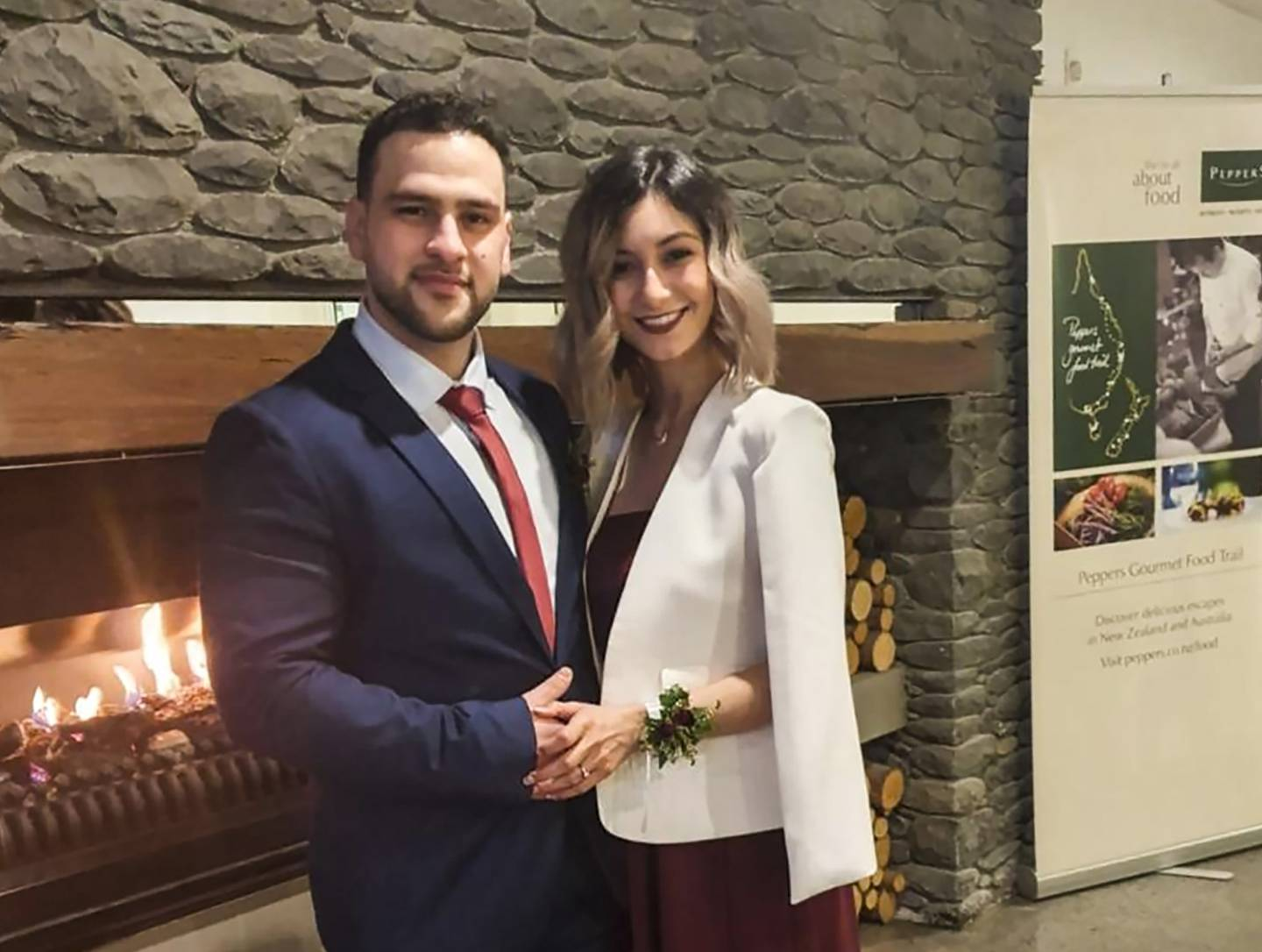 Mahdi Zougub and Fay El Hanafy were injured in the crash just minutes after their wedding at Terrace Downs Resort in Mid Canterbury. Photo / Supplied