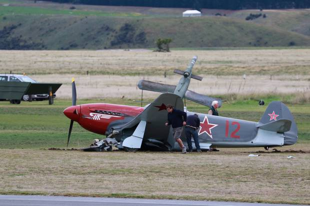The pilot is understood not to have been injured. Photo / Supplied by Matthew Warner