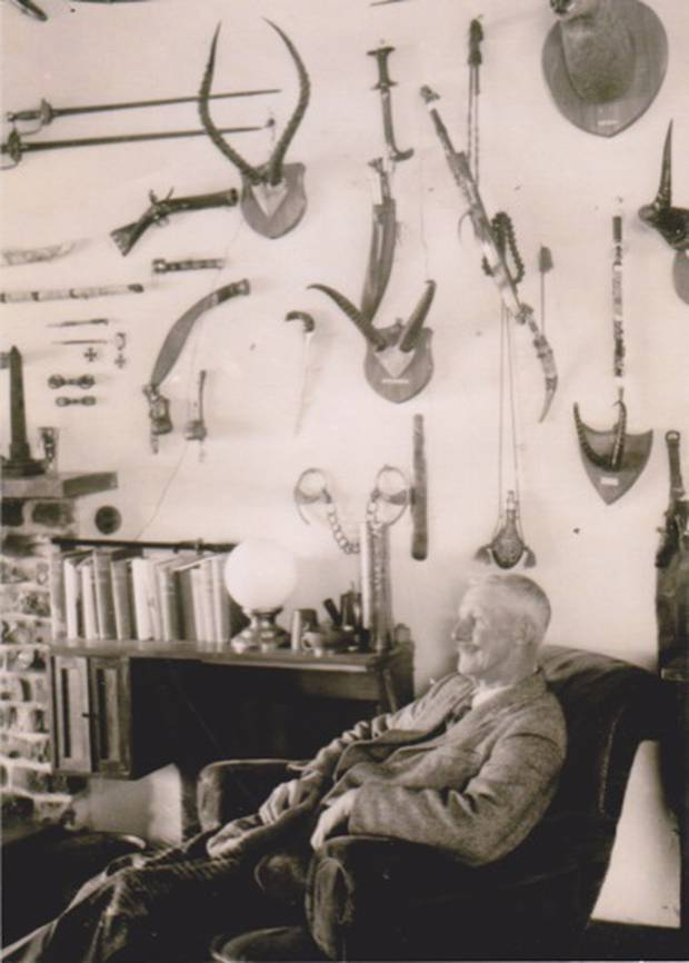 Archie Robertson collected a private museum of stuffed animals and artefacts at his home near Whanganui. Photo / Supplied