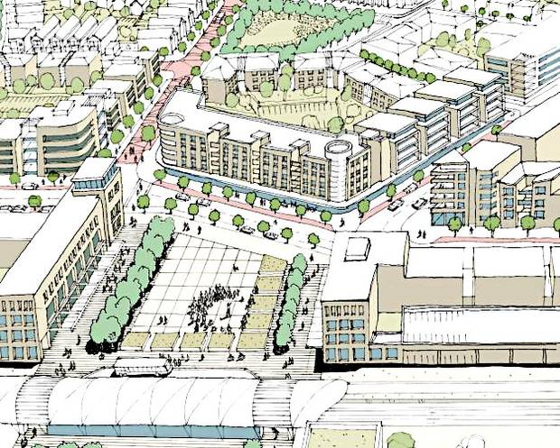 Indicative plans for a new town centre at Drury. Drawing / Auckland Council