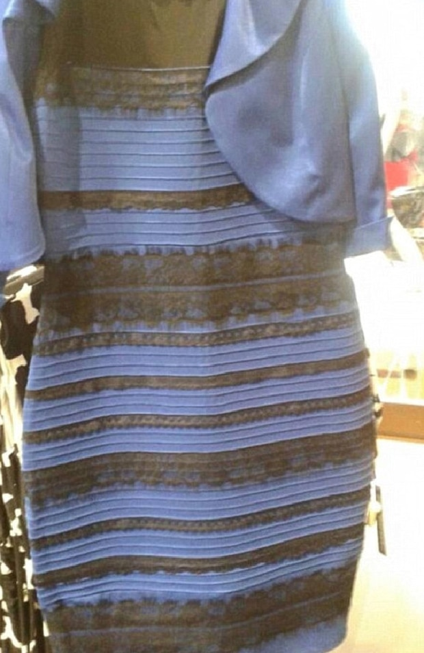 This dress caused a huge debate in February 2015 over whether or not it was blue and black, or white and gold. Photo / Twitter