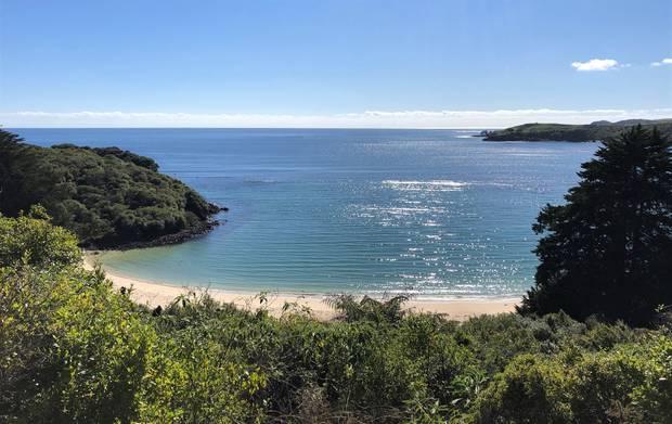 View of the lagoon and beach at Taronui Bay. Photo / Keri Molloy
