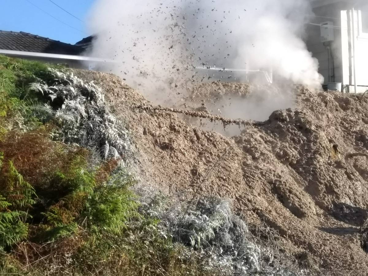 Mud pool opens up on Rotorua property
