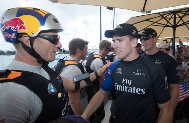 Jimmy Spithill was outfoxed by Peter Burling in 2017. Photo / File.