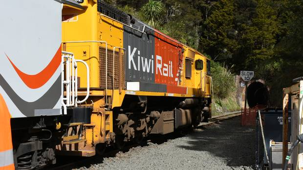 This northward bound train took KiwiRail bosses, dignatories, regional development heads and business leaders for a ride after Friday's $85m announcement.