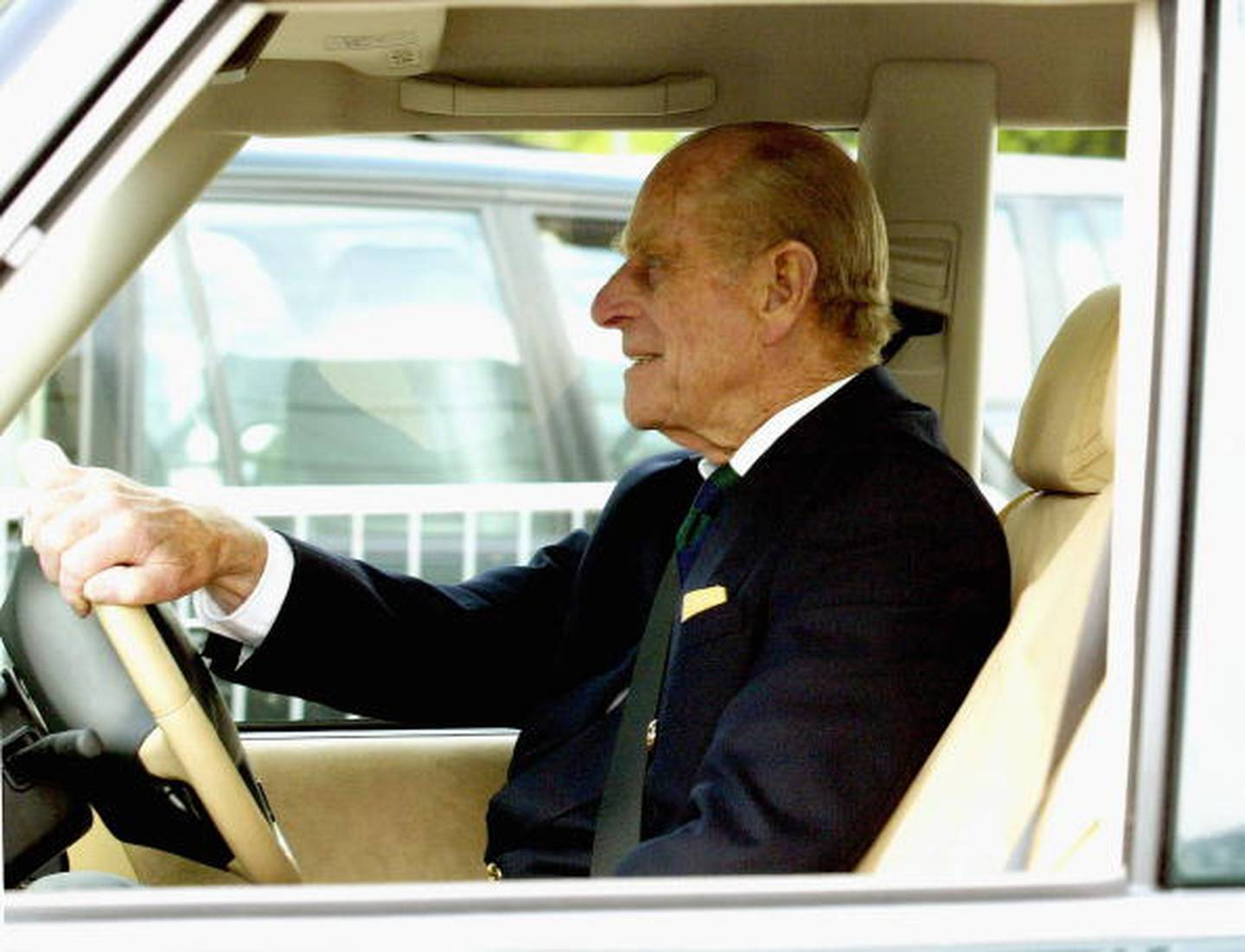 The Prince was fond of his Land Rover vehicles. Photo / Getty Images