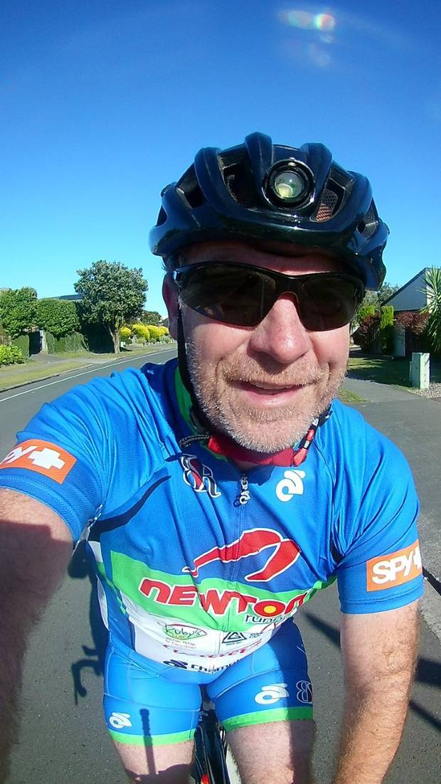 Matt Oliver completing 90km around his neighbourhood on Saturday.