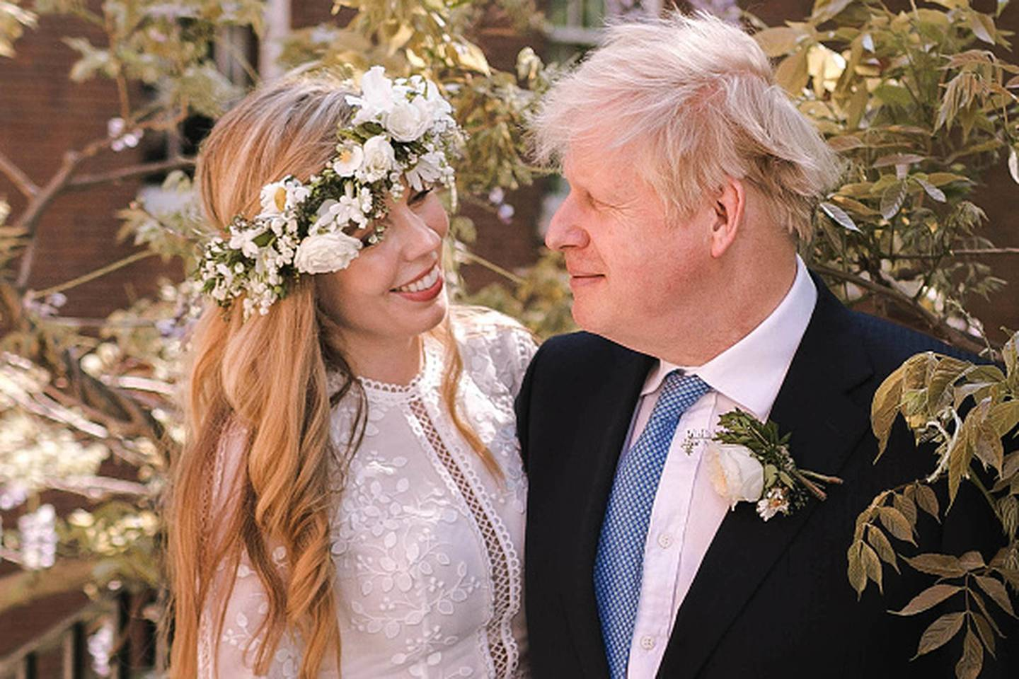 Boris Johnson and his wife Carrie Johnson were married in May. Photo / Getty Images