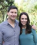Pictured yesterday, Prime Minister Jacinda Ardern with partner Clarke Gayford. Photo / Doug Sherring