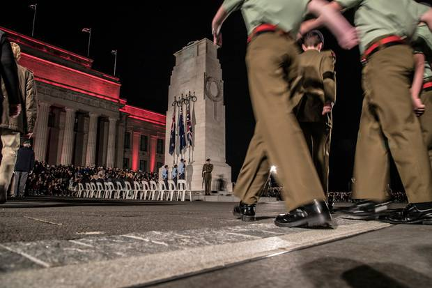 Anzac Day dawn service at the Auckland War Memorial Museum. Photo / Michael Craig