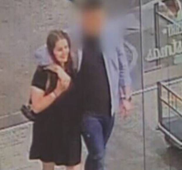 Grace and the accused met on a Tinder date and were captured on CCTV cameras earlier in the evening.
