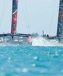 The Team New Zealand and Oracle catamarans were both made by Kiwi craftsmen. Photo / Richard Hodder