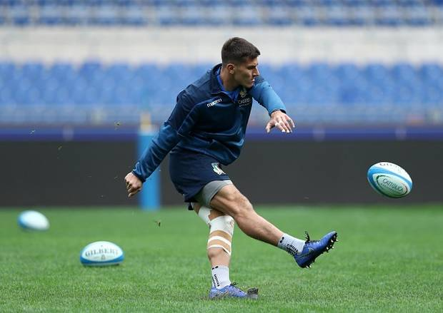 Tommaso Allan at Olimpico Stadium in Rome. Photo / Getty