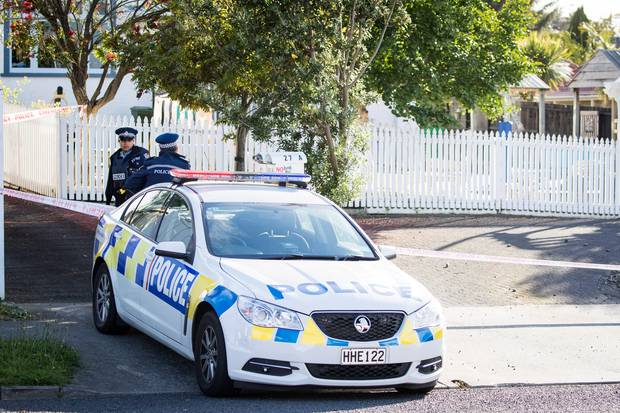 Police at the scene of the homicide on Maich Rd in Manurewa on November 12, 2017. Photo / Jason Oxenham