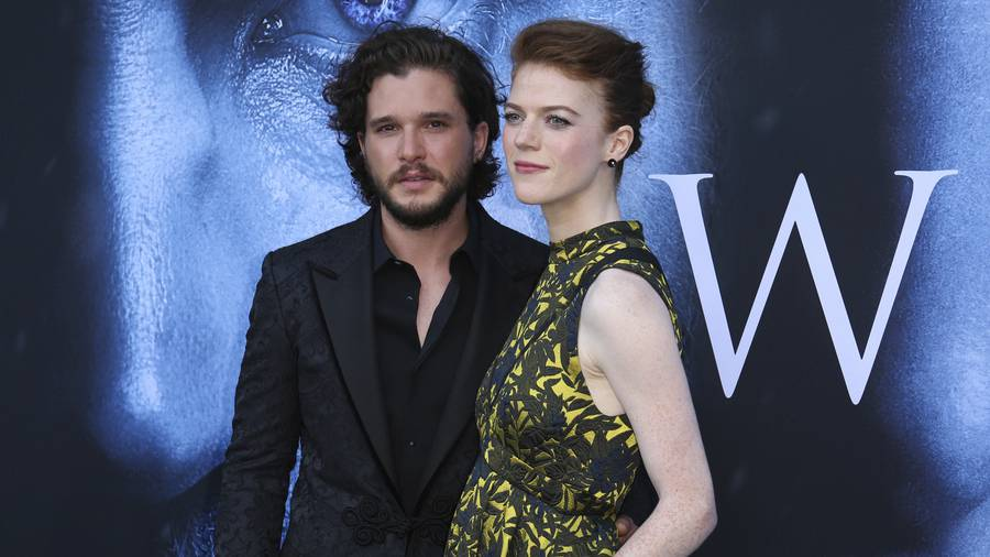Game of Thrones Actors Kit Harington and Rose Leslie to Wednesday
