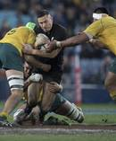The All Blacks overcame major pre-match dramas to post a big win against Australia last night. Photo / Brett Phibbs