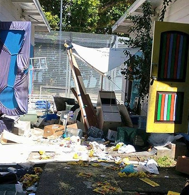 The ransacked immigration camp on Manus Island, Papua New Guinea. Photo / Refugee Action Coalition via AP