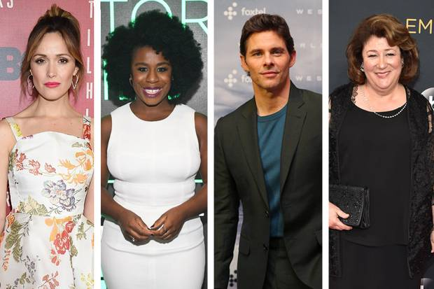From left: Rose Byrne, Uzo Aduba, James Marsden and Margo Martindale have also been cast in Mrs America. Photos / Getty Images