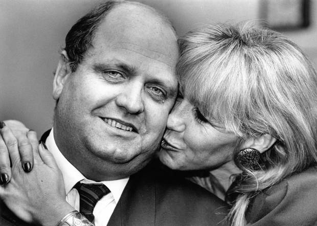 Moore as Prime Minister in 1990 with wife Yvonne Moore. Photo / Herald archive