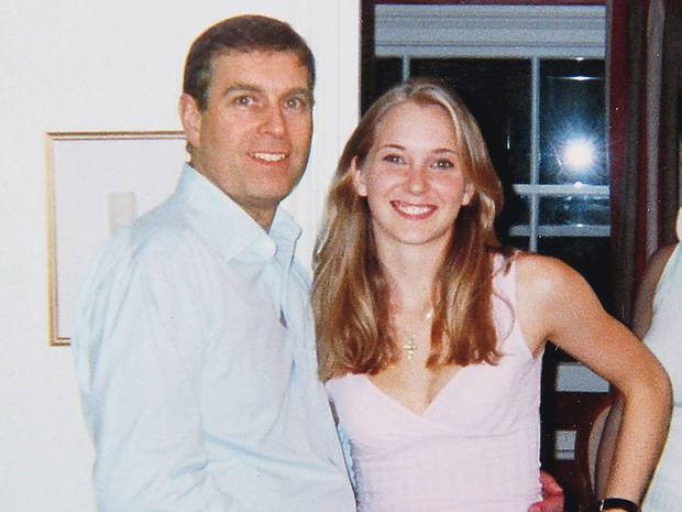 Prince Andrew pictured with Virginia Roberts, who says she was forced to have sex with the royal by Jeffrey Epstein.
