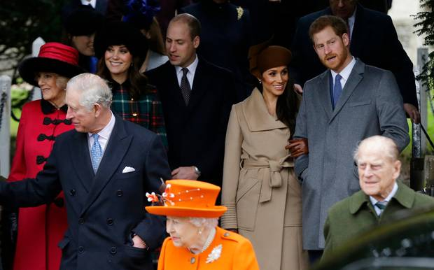 The British royal family have gathered to discuss the future - minus Meghan, who is in Canada looking after Archie. Photo / AP