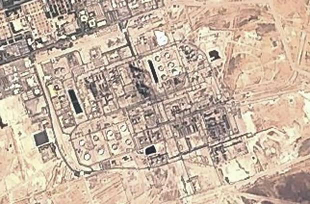 Image from the European Commission's Sentinel-2 satellite shows Saudi Aramco's Abqaiq oil processing facility in Buqyaq, Saudi Arabia. Photo / AP