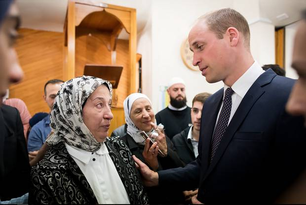 Prince William inside the Al-Noor Mosque during his visit to Christchurch.