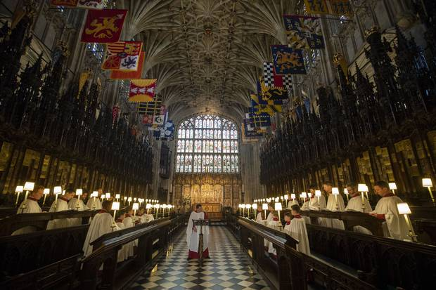Inside the chapel where Harry and Meghan will exchange their vows. Photo / Getty Images