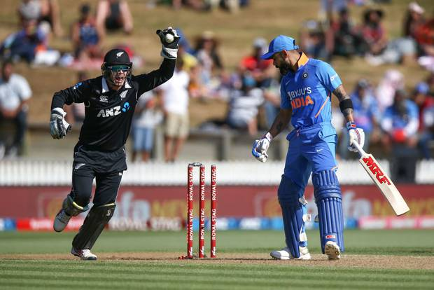 Virat Kohli was bowled by an Ish Sodhi stunner. Photo / Getty