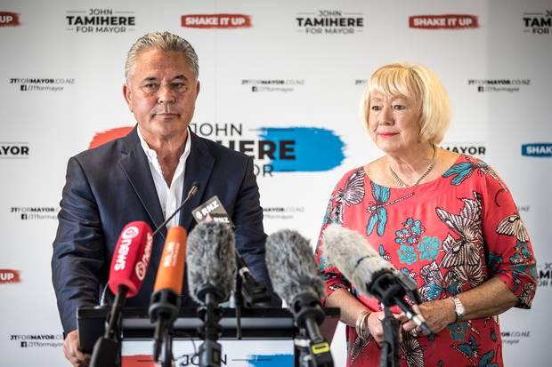 John Tamihere and running mate Chris Fletcher will challenge Phil Goff for the Auckland mayoralty. Photo / Michael Craig