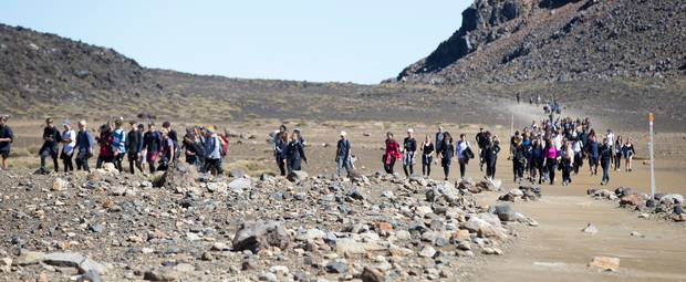 The popular Tongariro Alpine Crossing now pulls in 130,000 people each year. Photo / File