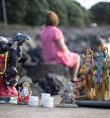 Discarded Hindu religious statues at Auckland beaches raise