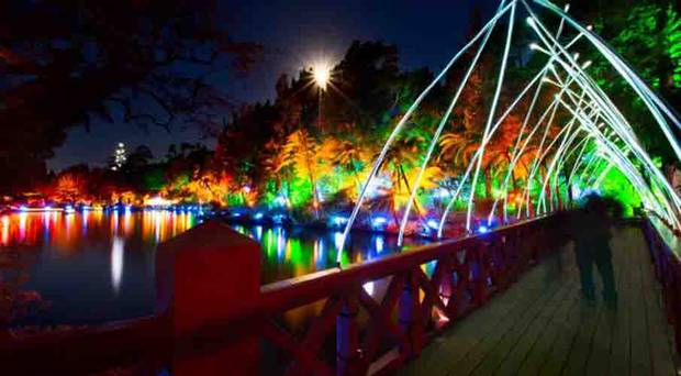 The festival of Lights at Pukekura Park in New Plymouth attracts more than 100,000 people every year. Photo / Festival of Lights, New Plymouth District Council